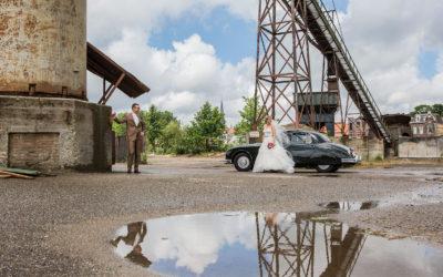 Kasteelbruiloft en shoot bij oude fabriek